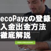 ecoPayzの登録と入金出金方法徹底解説